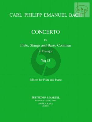 Concerto D-major WQ.13 (Flute-Strings-Bc) (piano red.)