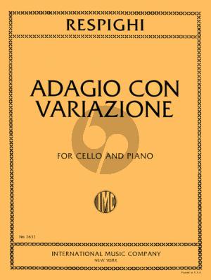 Respighu Adagio con Variazioni Violoncello-Piano