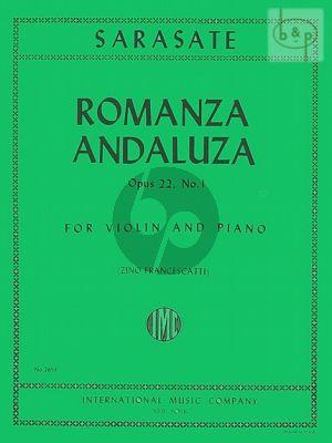 Romanza Andaluza Op.22 No.1 Violin and Piano