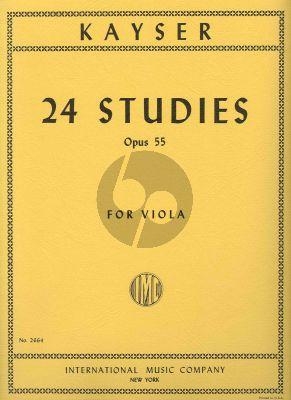 Kayser 24 Studies Op.55 Viola (IMC)
