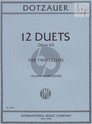 Dotzauer 12 Duets Op.63 2 Violoncellos (Alwin Schroeder)