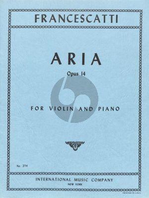 Francescatti Aria Op.14 A Ma Mere for Violin and Piano