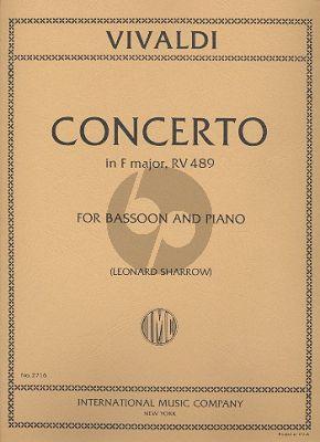 Vivaldi Concerto F-major RV 489 (F.VIII n.20) Bassoon-Piano (Sharrow)