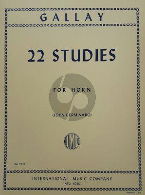 Gallay 22 Studies Op.58 Horn (John Cerminaro)