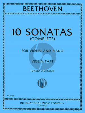 Beethoven 10 Sonatas (Violin and Piano) (Edited by David Oistrakh)