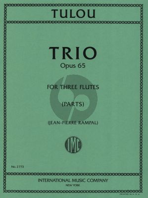 Tulou Trio Op. 65 for 3 Flutes (Jean-Pierre Rampal)