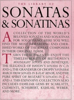 The Library of Sonatas & Sonatinas Piano