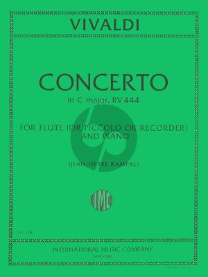 Vivaldi Concerto C-major RV 444 (F.VI n.5) (PV 78) Flute-Piano (Rampal)