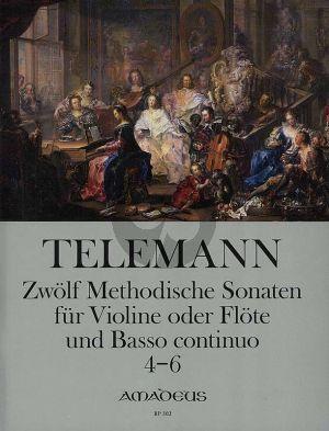 Telemann 12 Methodische Sonaten Vol.2 No.4-6 Violine[Flote] und Bc (nach dem Erstdruck von Winfired Michel und Christine Gevert)