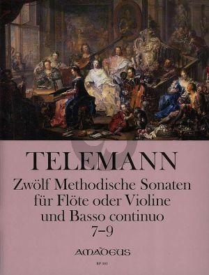 Telemann 12 Methodische Sonaten Vol.3 No.7-9 Violine[Flote] und Bc (nach dem Erstdruck von Winfired Michel und Christine Gevert)