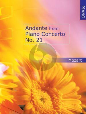 Mozart Andante from Piano Concerto KV 467 Piano Solo