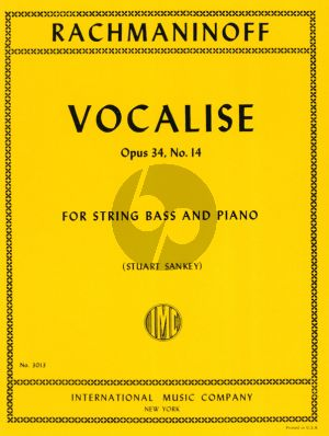 Rachmaninoff Vocalise Op.34 No.14 Double Bass and Piano (Stuart Sankey) (solo tuning)