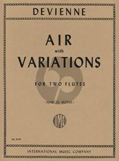 Devienne Air with Variations for 2 Flutes (Marcel Moyse)