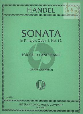 Sonata F-major Op.1 No.12
