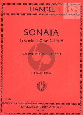 Handel Sonata g-minor Op.2 No.8 2 Violas-Piano (transcr. and edited by Leonard Davis)