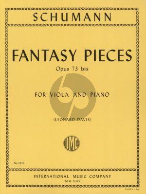 Schumann Fantasy Pieces Op.73 /bis Viola and Piano (Leonard Davis)