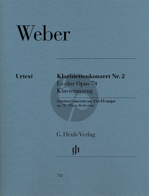Weber Konzert No.2 Op.74 Es-dur Klarinette-Orch. (KA)