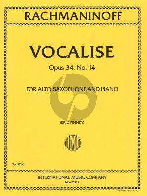 Vocalise Op.34 No.14 Altsax-Piano(Finney)
