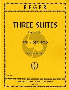 Reger 3 Suites Op.131d Viola solo (Milton Katims)