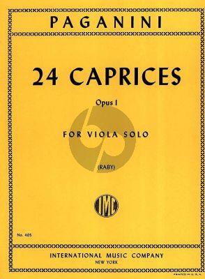 24 Caprices Op.1 Viola