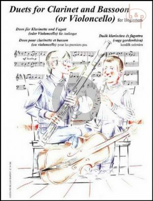 Duets for Clarinet and Bassoon[Cello] for Beginners