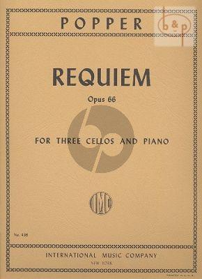 Requiem Opus 66 3 Violoncellos-Piano