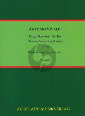 Vivaldi Concerto G-major RV 493 (F:VIII,30 / PV 131 ) Bassoon and Piano (Edited by Jean Christophe Dassonville)