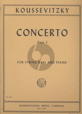 Koussevitzky  Concerto Op.3 Double Bass-Piano (solo tuning)