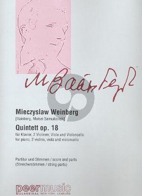 Weinberg Piano Quintet Op.18 (1944) 2 Vi.-Va.-Vc.-Piano (Score/Parts)