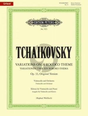 Tchaikovsky Variations on a Rococo Theme Op.33 (Original Version) Violoncello-Piano (Raphael Wallfisch)