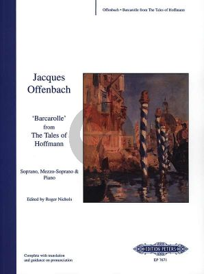 Offenbach Barcarolle from Tales of Hoffmann (Soprano, Mezzo-Soprano-Piano) (D-Major) (French)