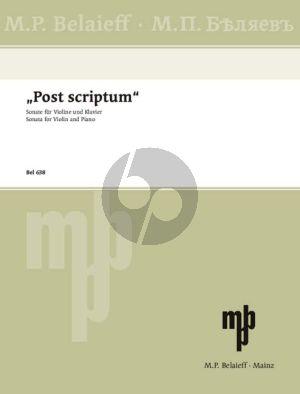 Silvestrov Post Scriptum (Sonata) Violin-Piano