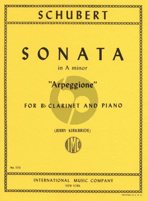 Schubert Sonate Arpeggione a-minor D.821 Clarinet and Piano (transcr,. by Jerry Kirkbride)