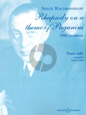 Rachmanonoff Rhapsody on a theme of Paganini Op.43 18th Variation Piano Solo (Advanced Level)