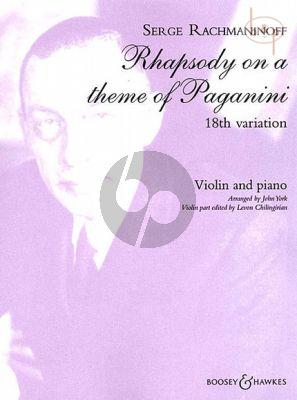 Rhapsody on a theme of Paganini 18th.Variation