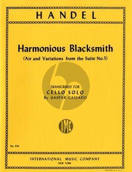 Handel Harmonious Blacksmith (Air and Variations from the Suite No.5) Cello solo (transcr. by Gaspar Cassado)
