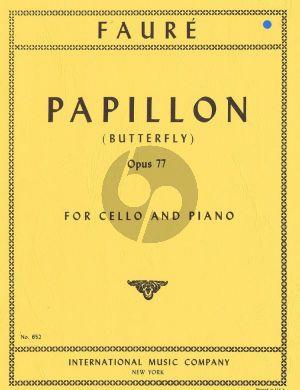 Faure Papillon (Butterfly) Op.77 Violoncello-Piano