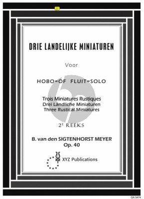 Sigenhorst Meyer 3 Landelijke Miniaturen 2 Op. 40 Fluit of Hobo solo