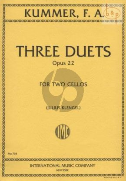 3 Duets Op.22 2 Violoncellos
