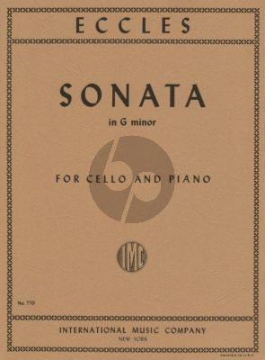 Eccles Sonata g-minor Violoncello and Piano (Moffat)