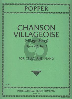 Popper Chanson Villageoise Op.62 No.2 Violoncello-Piano