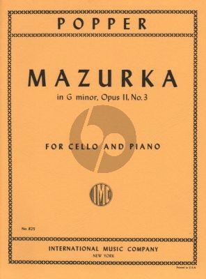 Popper Mazurka g-minor Op.11 No.3 Cello-Piano