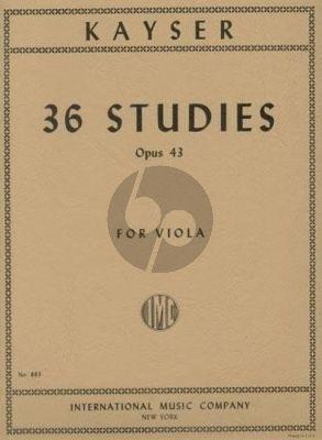 Kayser 36 Studies Op.43 Viola