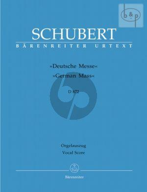 Deutsche Messe D.872 (SATB-Winds-Perc.-Organ and Double Bass opt.)
