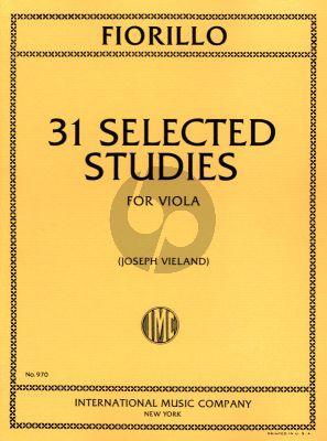 Fiorillo 31 Selected Studies for Viola (Joseph Vieland)