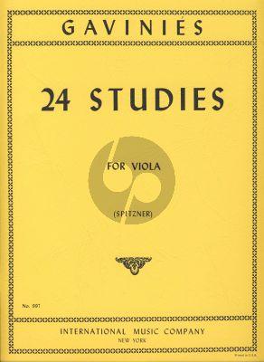 Gavinies 24 Studies Viola (Fritz Spitzner)