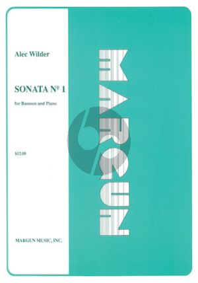 Wilder Sonata No.1 Bassoon and Piano