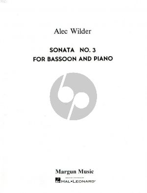 Wilder Sonata No.3 Bassoon and Piano