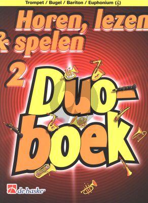 Horen, Lezen & Spelen 2 Duoboek Trompet (Bugel/Baritone/Euphonium G-Sleutel)