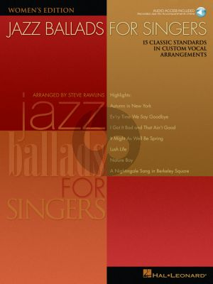 Jazz Ballads for Singers (Women Ed) (Bk-Cd) (15 Classic Standards in Custom Vocal Arrangements)